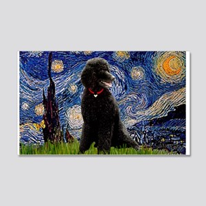Starry Night Black Poodle (ST 22x14 Wall Peel