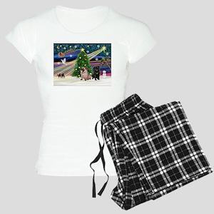 X Mas Magic & Pug Pair Women's Light Pajamas