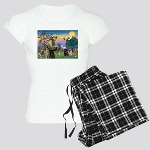 Saint Francis & Two Pugs Women's Light Pajamas