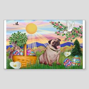 Easter Pug Sticker (Rectangle)
