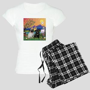Fantasy Land / Two Pugs Women's Light Pajamas
