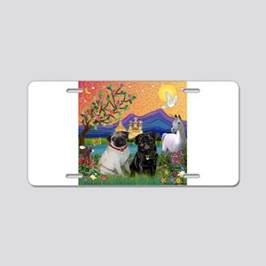 Fantasy Land / Two Pugs Aluminum License Plate