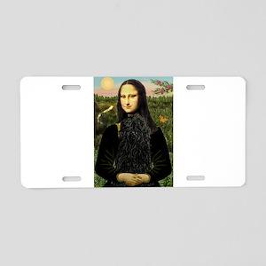Mona Lisa (new) & Puli Aluminum License Plate