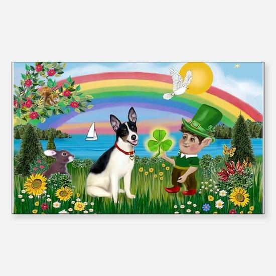 St. Patrick's Rat Terrier Sticker (Rectangle)