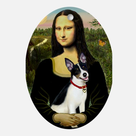 Mona & Rat Terrier Ornament (Oval)