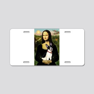 Mona & Rat Terrier Aluminum License Plate