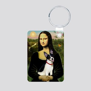 Mona & Rat Terrier Aluminum Photo Keychain