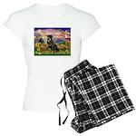 Autumn Angel & Rottie Women's Light Pajamas