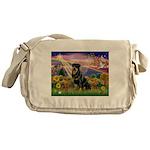 Autumn Angel & Rottie Messenger Bag
