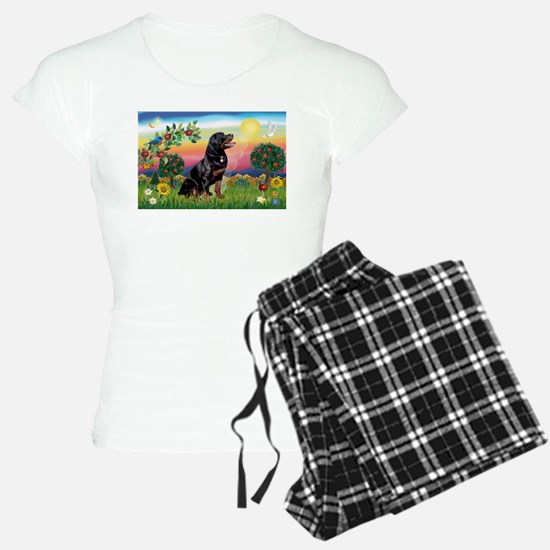 Bright Country with Rottweiler Pajamas