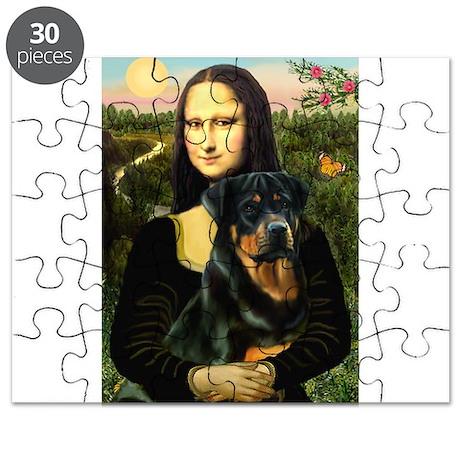 Mona Lisa & Rottie Puzzle