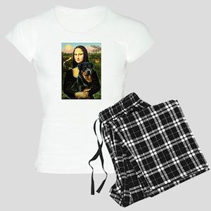 Mona Lisa & Rottie Women's Light Pajamas