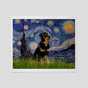 Starry Night & Rottie Throw Blanket