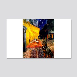 Cafe with Rottie 22x14 Wall Peel