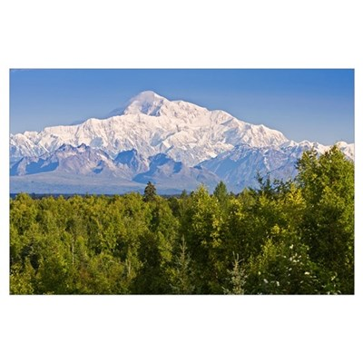 Southside view of Mt. Mckinley Summer, Southcentra Poster