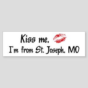Kiss Me: St. Joseph Bumper Sticker