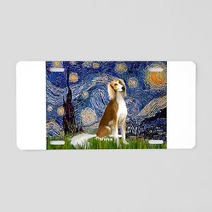 Starry Night & Saluki Aluminum License Plate