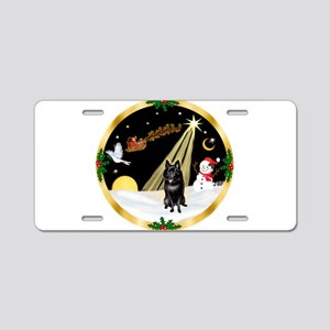 Night Flight/Schipperke Aluminum License Plate