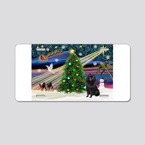 Xmas Magic Schipperke Aluminum License Plate