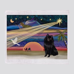 Xmas Star & Schipperke Throw Blanket