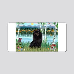 Birches / Schipperke Aluminum License Plate