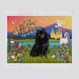 Fantasy Land Schipperke Throw Blanket