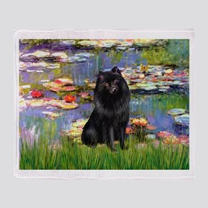 Lilies & Schipperke Throw Blanket