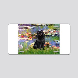 Lilies & Schipperke Aluminum License Plate