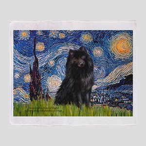 Starry Night Schipperke Throw Blanket