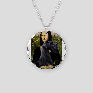 Mona & Giant Schnauzer Necklace Circle Charm