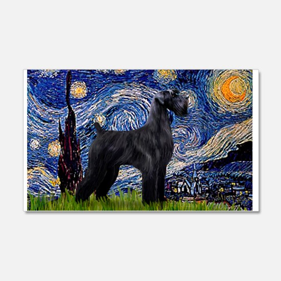 Starry Night Schnauzer 22x14 Wall Peel