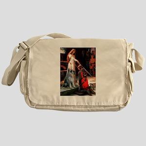 Princess & PS Giant Schnauzer Messenger Bag