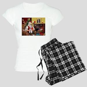 Santa's Schnauzer (9) Women's Light Pajamas