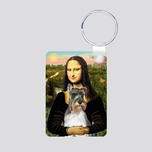 Mona's Schnauzer Aluminum Photo Keychain