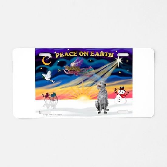 XmasSunrise/Deerhound Aluminum License Plate