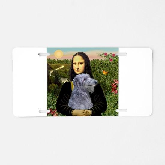 Mona & her Deerhound Aluminum License Plate