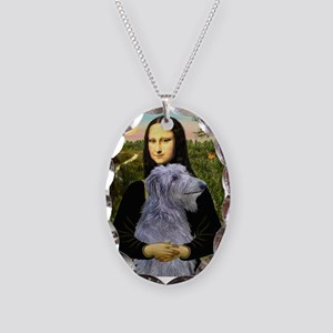 Mona & her Deerhound Necklace Oval Charm