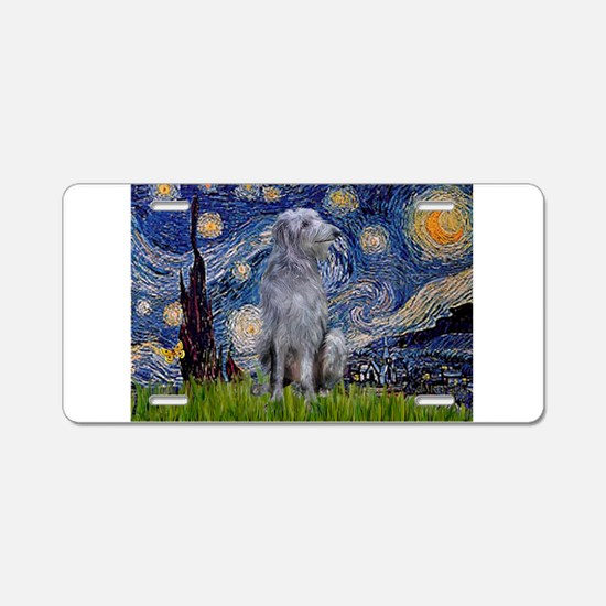 Starry Night/Scottish Deerhou Aluminum License Pla