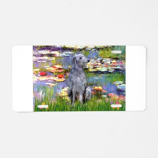 Lilies & Deerhound Aluminum License Plate