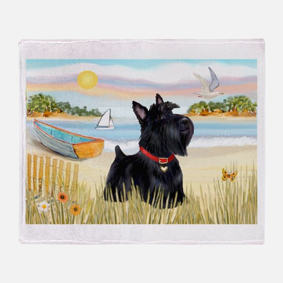 Rowboat & Scottie Throw Blanket