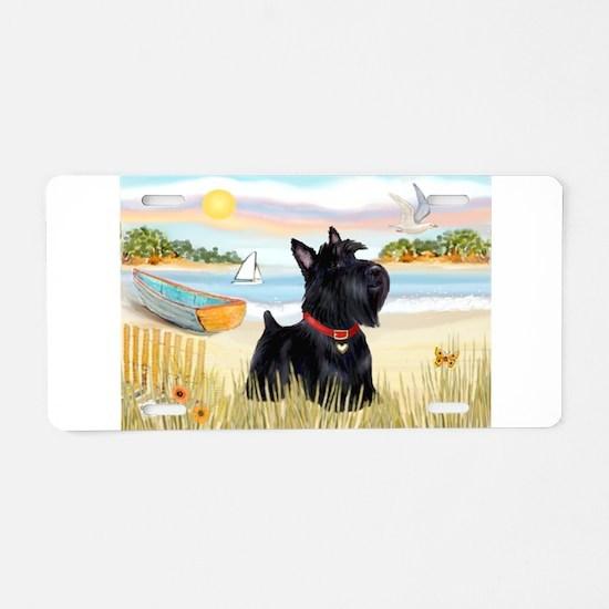 Rowboat & Scottie Aluminum License Plate