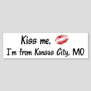 Kiss Me: Kansas City Bumper Sticker