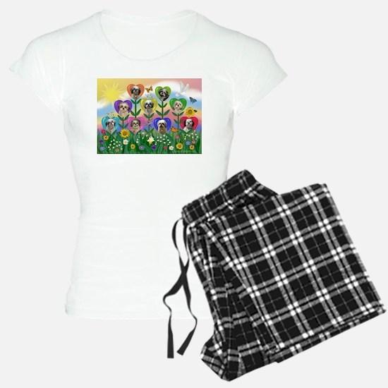 Shih Tzu Heart Garden Pajamas