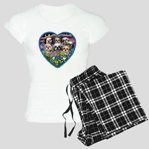 Shih Tzus in Heart Garden Women's Light Pajamas