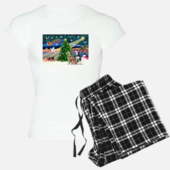 XmasMagic/2 Huskies Pajamas