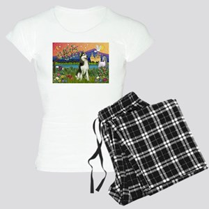 Siberian Husky Fantasyland Women's Light Pajamas