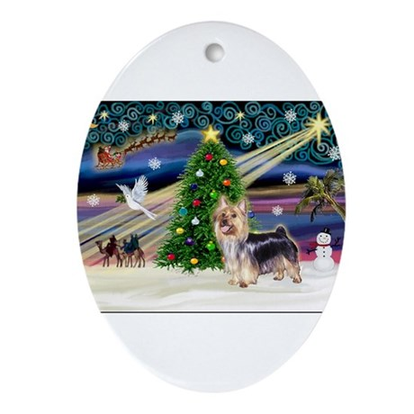 Xmas Magic & Silk T Ornament (Oval)