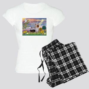Cloud Angel / Silky Terrier Women's Light Pajamas