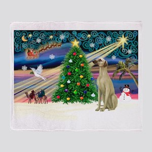 Xmas Magic & Sloughi Throw Blanket