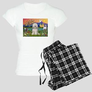 Tibetan Terrier in Fantasy La Women's Light Pajama